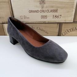 Zapato De Piel Terral Gris...