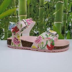 Sandalia Bio Flores Glitter...